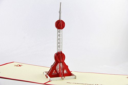 IShareCards Handmade Pop Up 3D Thank You Greeting Cards World Famous Buildings (The Oriental Pearl TV Tower)