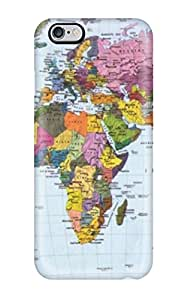 Lovers Gifts Hot Case Cover Protector For Iphone 6 Plus- Beautiful Komar World Map5713