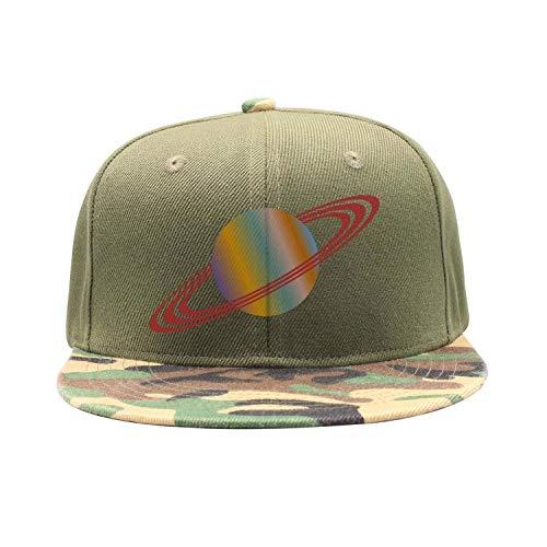 (Men Women Camouflage Flat Baseball Cap Lightweight Saturn Planet Cosmic)