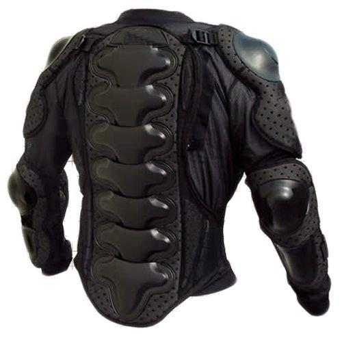 Protektorenjacke Brustpanzer Rückenprotektor - Schutzausrüstung für Bike Quad Motocross Motorrad Motorsport (Größe M)