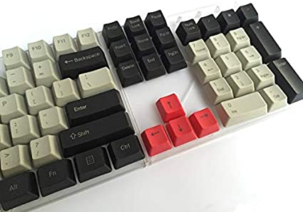 Keyboard keycaps Black Light Gray Mixed Dolch Thick PBT 104 87 61 Keycaps Profile Key Caps for Mechanical Keyboard Axis Body : Blank, Color : 104