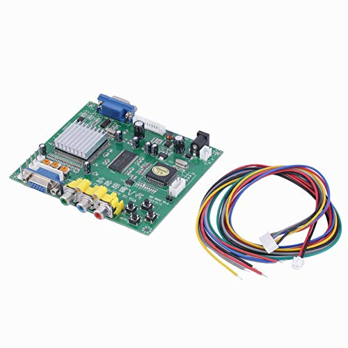 RGB CGA EGA YUV to VGA HD Video Converter Board Moudle HD9800 HD-Converter Board GBS8200 Non-Shielded ()