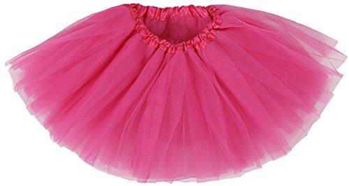 Baby's 4 Layered Tutu Classic Princess Dress-up Tutu Skirt,Rose,6-18 month