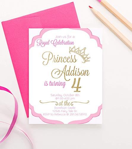 Princess Birthday Invitations for Girls, Princess Party Invite,