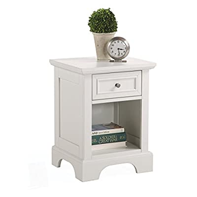 Home Styles Naples 1 Drawer Nightstand - Dimensions: 18W x 16D x 24H in. Crafted from Asian Hardwood Finished in rich white - nightstands, bedroom-furniture, bedroom - 41za6NH60zL. SS400  -