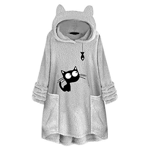 Cute Fleece Hoodie Pullover Sweatshirt