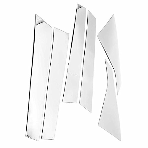 (PAKCEEINC Stainless Steel Pillar Posts Insert Accent Cover for Chevrolet Impala Years of 2014-2017 NOT FIT Limited Model)