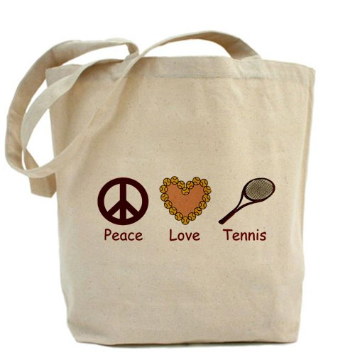 CafePress diseño de símbolo de la Paz Love & gamuza de tenis–lona bolso, bolsa de la compra