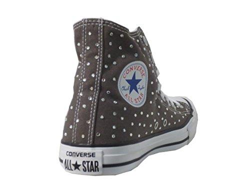 Balzi Calzature Converse All Star Strass Grigio Charcoal(Prodotto  Artigianale) ...