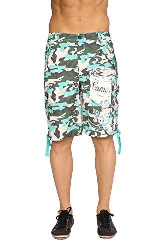 Pepe Jeans Men's Bermuda Shorts Kodak - Green, W34 (Jeans Pepe Shorts)