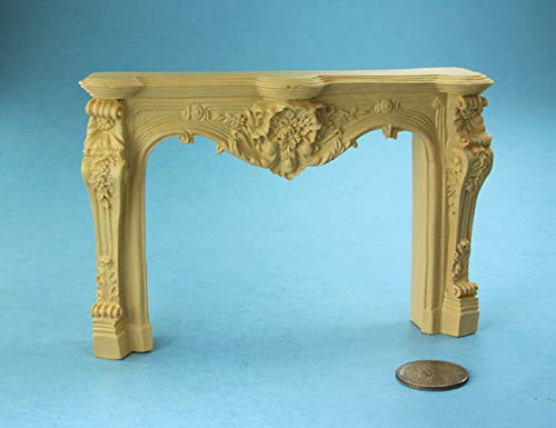 Carved Mantle - Dollhouse & Miniature Dolls' Houses Miniature 1:12 and 1:24 Scale Fancy Carved Fireplace Mantle Welcome to Minimum World Welcome to Minimum World