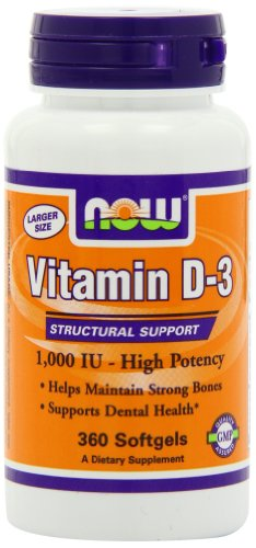Vitamin D-3 1,000 IU - 360 Softgels (Vitamin A 1000 compare prices)