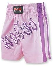 M.A.R International Ltd. - Pantalones Cortos de Boxeo tailandés y Kickboxing para Artes Marciales Mixtas, Ropa de Boxeo Muay Thai K1 Gear Tela de satén de poliéster, Color Rosa