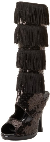 Flapper BSQ Women's Knee Funtasma Boot Black High 168 Sequins qwC5C4dt