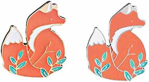 731555c2432 Enamel Pin Sets Cute Pins Funny Animal Lapel Pin Brooch Pin for Backpack