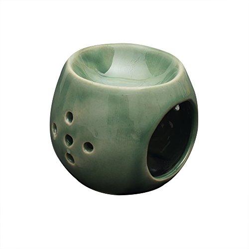 Ceramic Aroma Oil Burner Essential Oil Burner Aroma Diffuser Ceramic Hand Carved Studio Pottery Petite Design Home Fragrance Décor