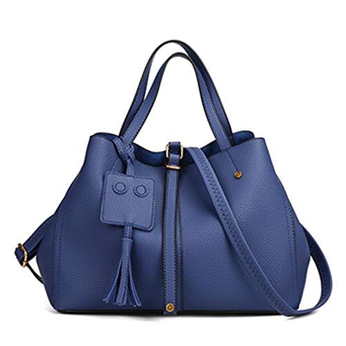 33cm 24cm Black Borse Blue Donna Per Spalla A 15cm XSqSYwB4