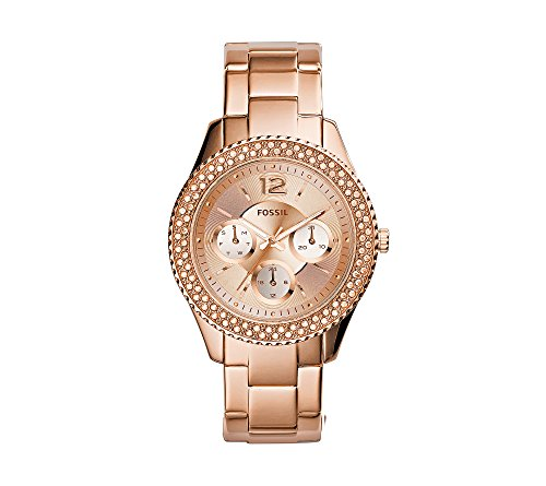 Fossil-Womens-38mm-Stella-Rose-Goldtone-Stainless-Steel-Bracelet-Watch-With-Tonal-Dial