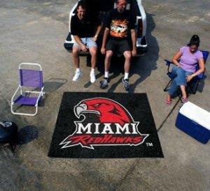 Miami Of Ohio Redhawks Area Rug - - Miami Tailgater Rug