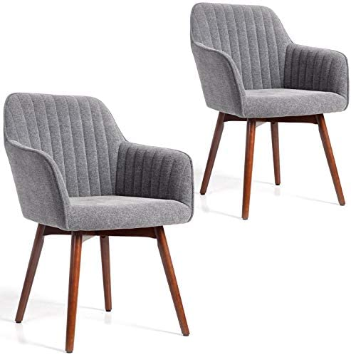 WisHom Modern Living Dining Room Chenille Accent Arm Chairs Club Guest