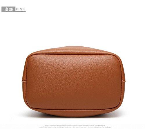Bolso Brown Nuevo GWQGZ De De Con Hombro Satchel Dama Moda Single Brown Flecos XAXFCwq