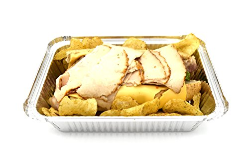 Fig & Leaf (120 Pack) Premium 2-LB Takeout Pans with LIDS l Standard 8.6'' x 6.1'' x 2'' l Top Choice Disposable Aluminum Foil for Catering Party Meal Prep Freezer Drip Pans BBQ Potluck Holidays by Fig & Leaf (Image #2)