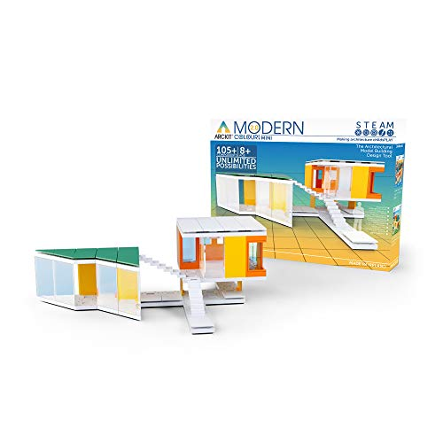 Arckit Mini - Kids Architectural Model Design Tool (Mini Modern Colours 2.0) -