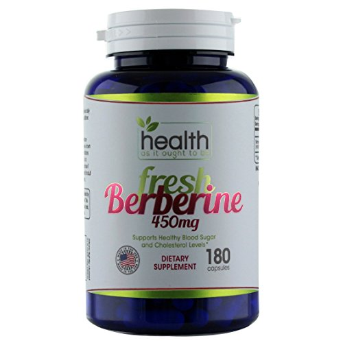 Fresh Berberine 450mg – 180 Capsules. Contains Only Berberine and Rice Flour – No Preservatives. Made in Small Batches so Freshness Is Guaranteed. Used By Integrative Medicine Physicians. For Sale