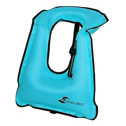 (OMOUBOI Snorkel Vest Inflatable Snorkeling Vest for Men Women Large Snorkeling Life Vest (Blue))