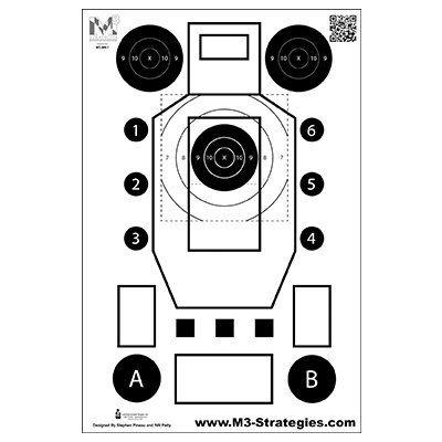 M3 Strategies Multi-Purpose Training Target (Version 2) 25 pack