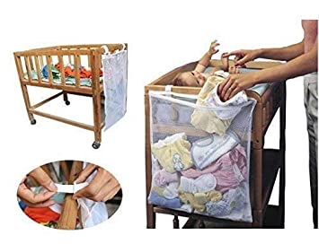 Baby Crib Cot Bed Bedside Hanging Storage Bag Diaper Nappy Clothes Organizer UK