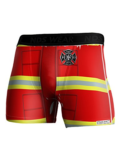 Sexy Fire Fighter Outfit (TooLoud Firefighter Red AOP Boxer Brief Dual Sided Medium All Over Print)