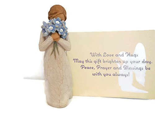 Willow Tree Forget Me Not Angel Figurine, An Ideal Sympathy-Condolence Gifts For Loss Of Mother/Father/Loved One