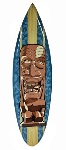 Carved Tiki Surfboard - WorldBazzar Hand Carved Tiki Totem Mask Surfboard Wooden Wall Hanging Bar Art Sign