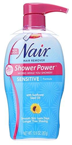 Nair Hair Remover Shower Power Sensitive 12.6 Ounce Pump (372ml) (2 Pack)