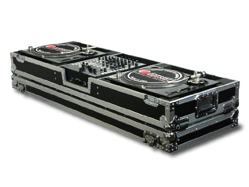Odyssey FZDJ12W Flight Zone Ata Dj Coffin With Wheels For A 12 Mixer And Two Turntables In Standard ()