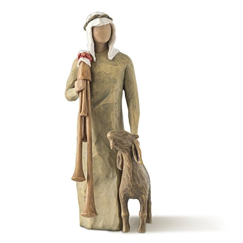 Willow Tree hand-painted sculpted figure, Zampognaro (Shepherd with Bagpipe) by Willow Tree