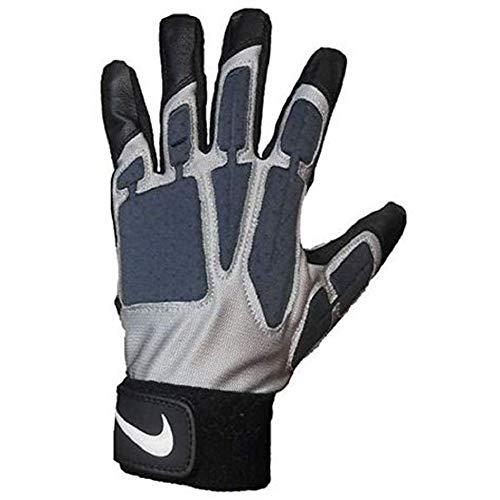 Nike Promo D-Tack IV Football Gloves (Black/Grey, XXXL) (Best Football Shoes For Lineman)