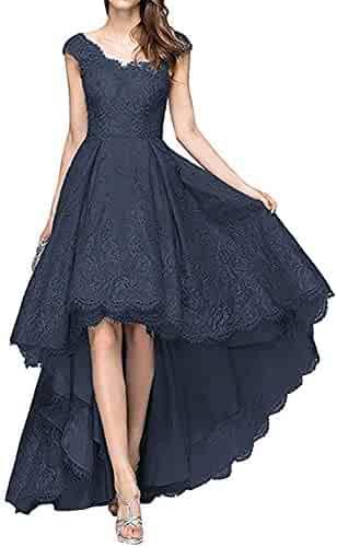 bce2fefb50 vimans Women s High Low Lace Prom Dresses 2018 Evening Party Gowns Dress5070