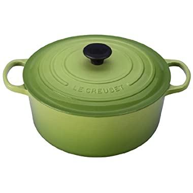 Le Creuset Signature Enameled Cast-Iron 7-1/4-Quart Round French (Dutch) Oven, Palm