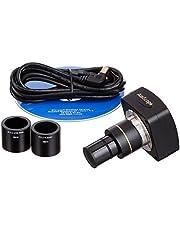 AmScope MU300 3.0MP Microscope Digital Camera, USB 2.0, Includes Software and Reduction Lens