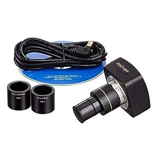 AmScope–Still & Live Microscopio digital con software, 10MP