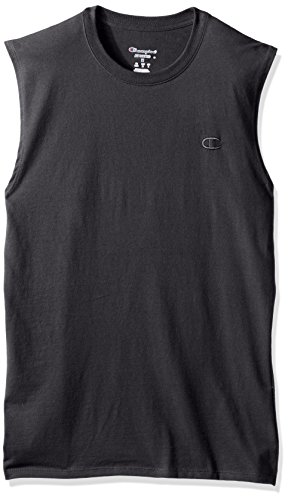 Cotton Muscle Shirt (Champion Men's Classic Jersey Muscle T-Shirt, Granite Heather, XL)