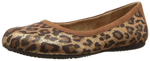 SoftWalk Women's Napa Ballet Flat, Metallic Leopard 10.5 W US