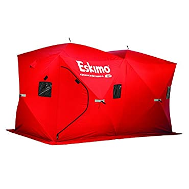 Eskimo Quickfish 69149 Quickfish 6 Pop-Up Portable Ice Shelter, 6 Person