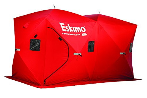 Eskimo Quickfish 69149 Quickfish 6 Pop-Up Portable Ice Shelter, 6 Person (Best Pop Up Ice Shelter)