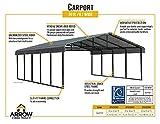 Arrow Shed 20' x 20' 29-Gauge Metal Carport with