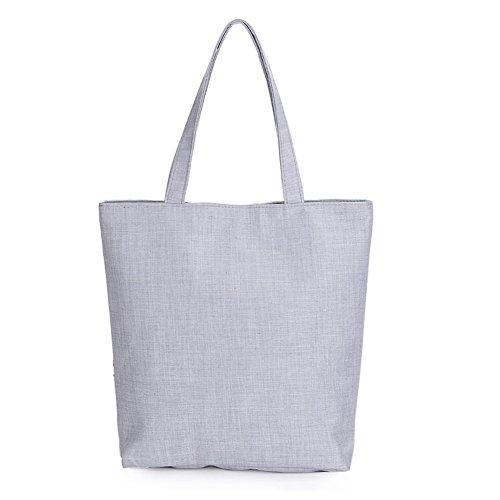 Minetom damen Umhängetasche Totepack Handtasche Tasche Elegant SCHULTERTASCHE mode Einkaufen Leinen Reisen Blumen gedruckt Strand bag Rose