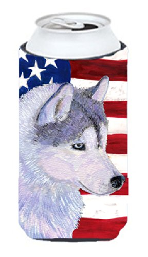 usa-american-flag-with-siberian-husky-tall-boy-beverage-insulator-beverage-insulator-hugger