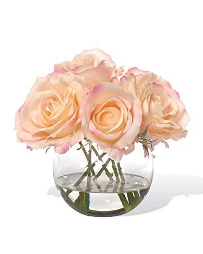 Petals Silkflowers Rose Nosegay -Coral